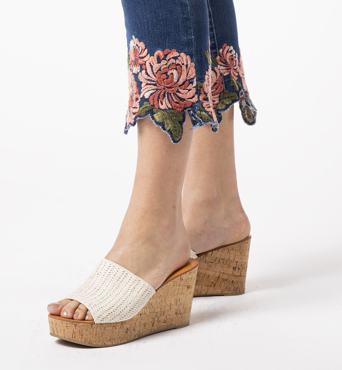 Ellis Cropped Boot With Embroidery, , hi-res