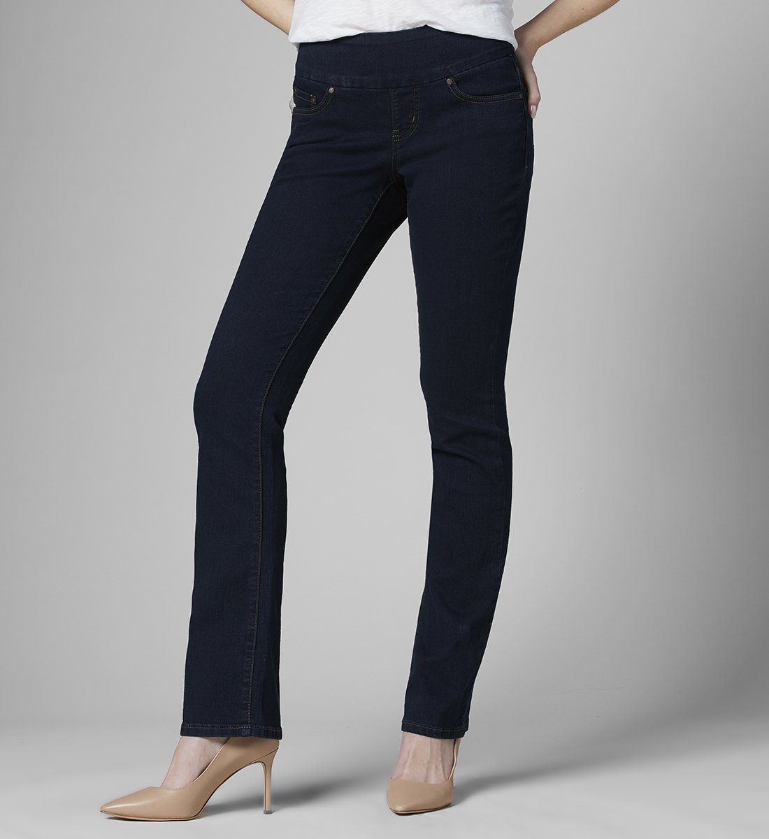 Choose SZ//color Jag Jeans Women/'s Petite Paley Pull on Bootcut Jea