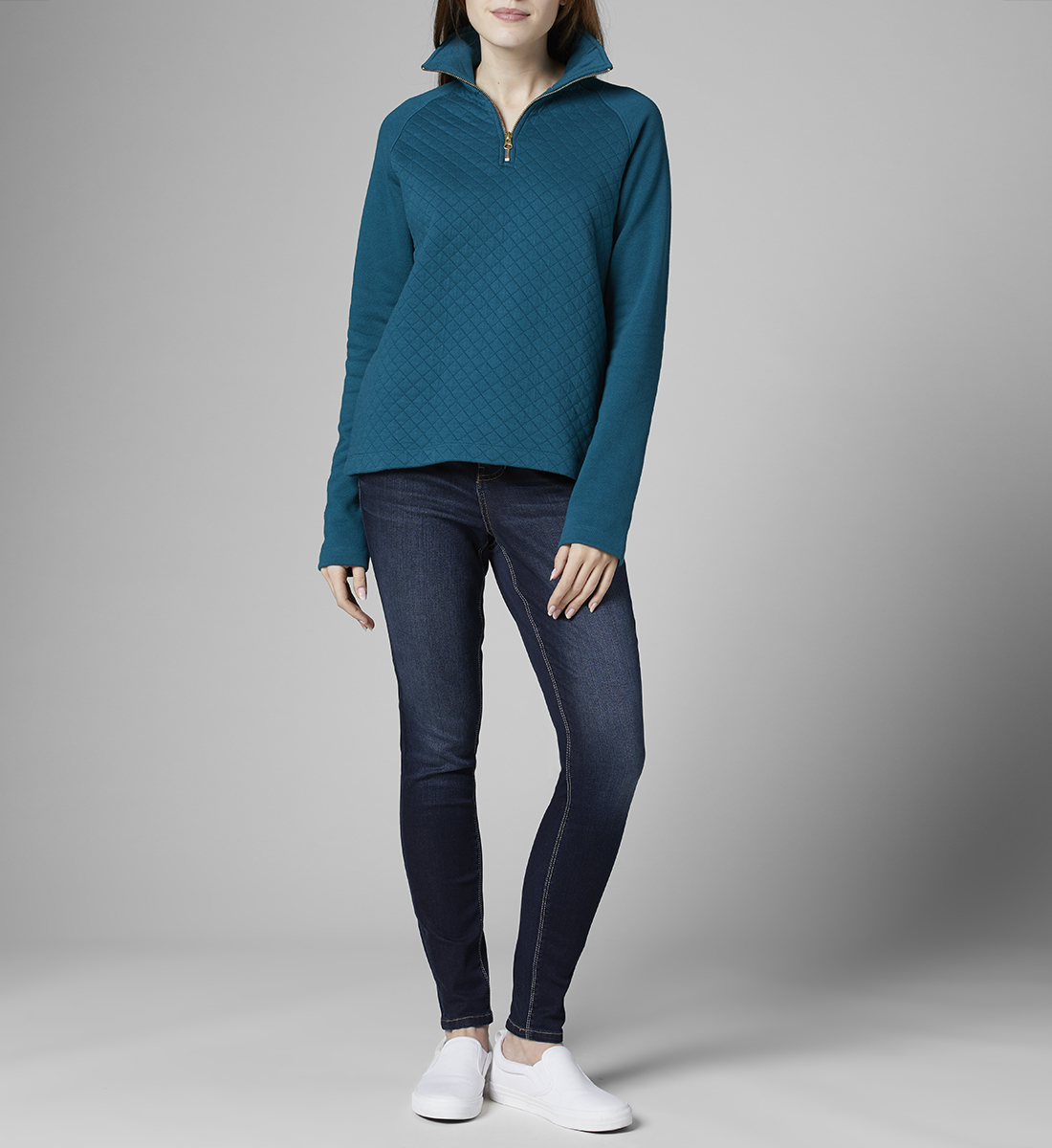 Theresa Quarter-Zip Pullover, Dragon Fly, hi-res