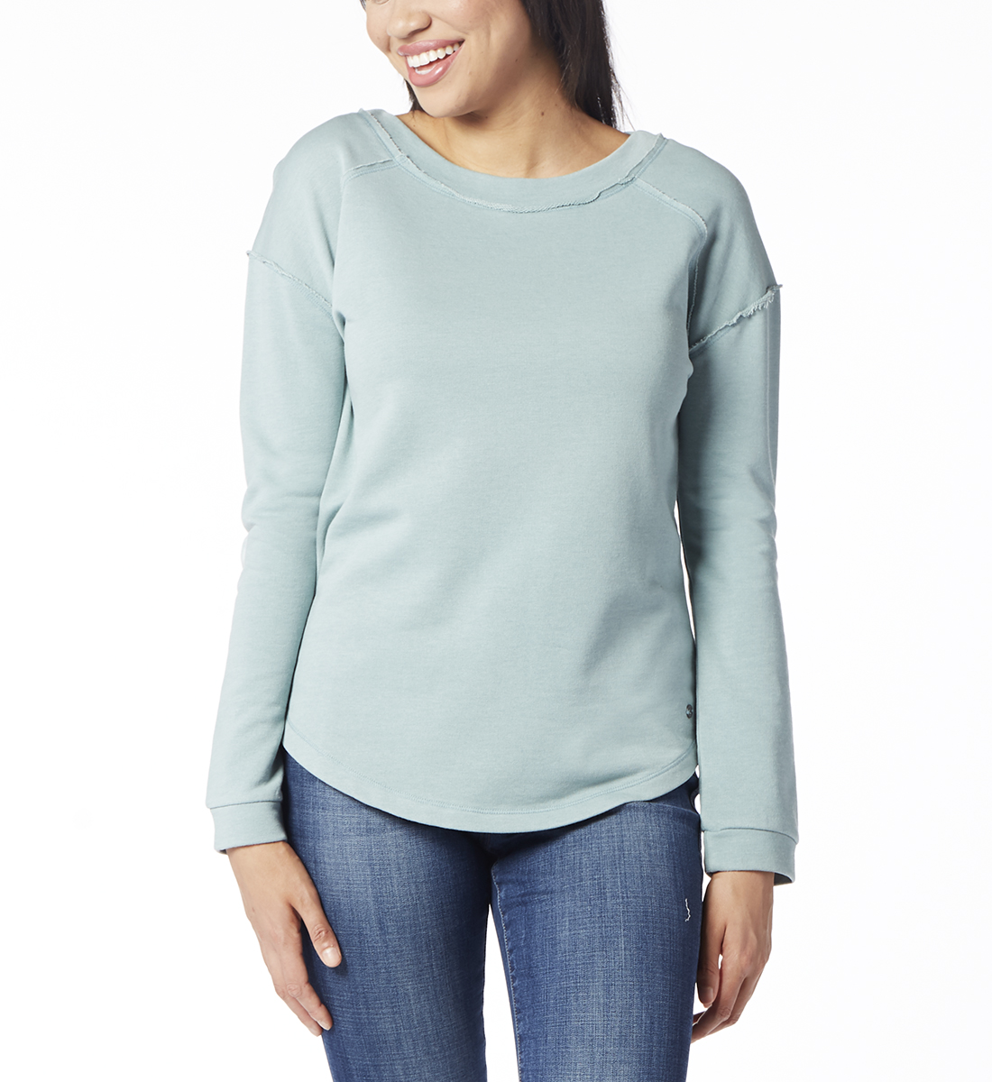 Belle Sweatshirt, Blue Jade, hi-res