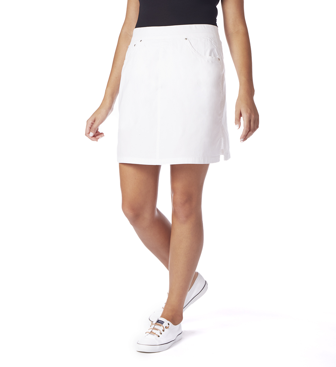 On The Go Poplin Skort, White, hi-res