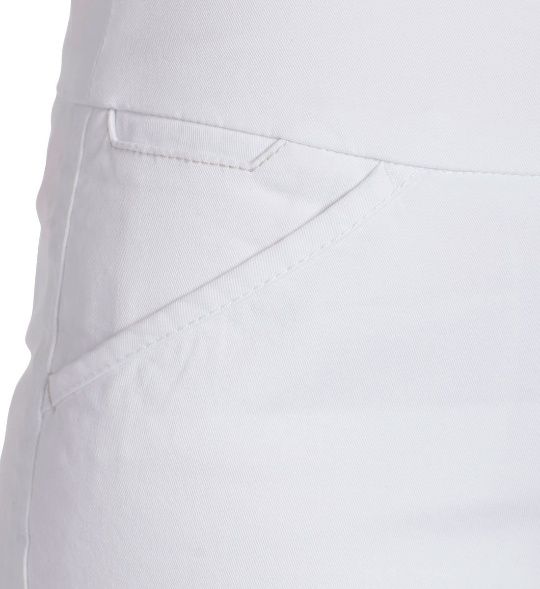 Ainsley Mid Rise Bermuda Short, White, hi-res