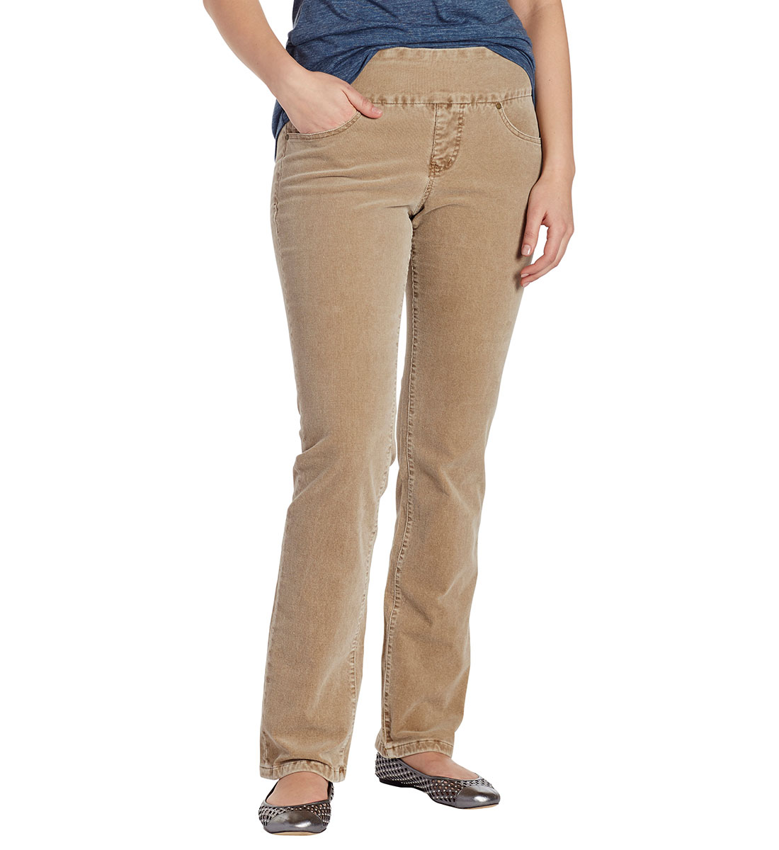 8368946d9a7a2 Peri Straight Leg Corduroy Toffee Brown Front