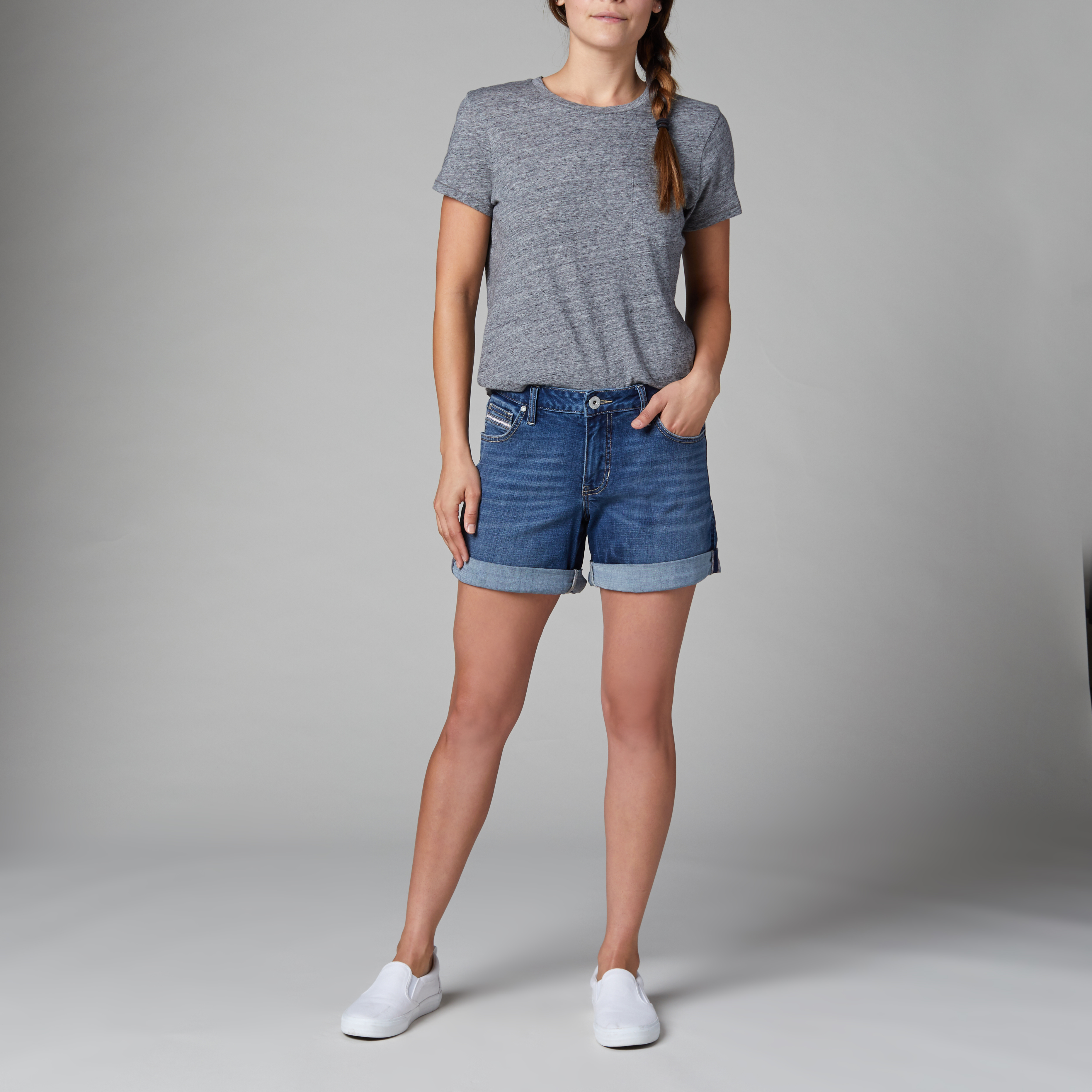 Petite Alex Boyfriend Short, , hi-res