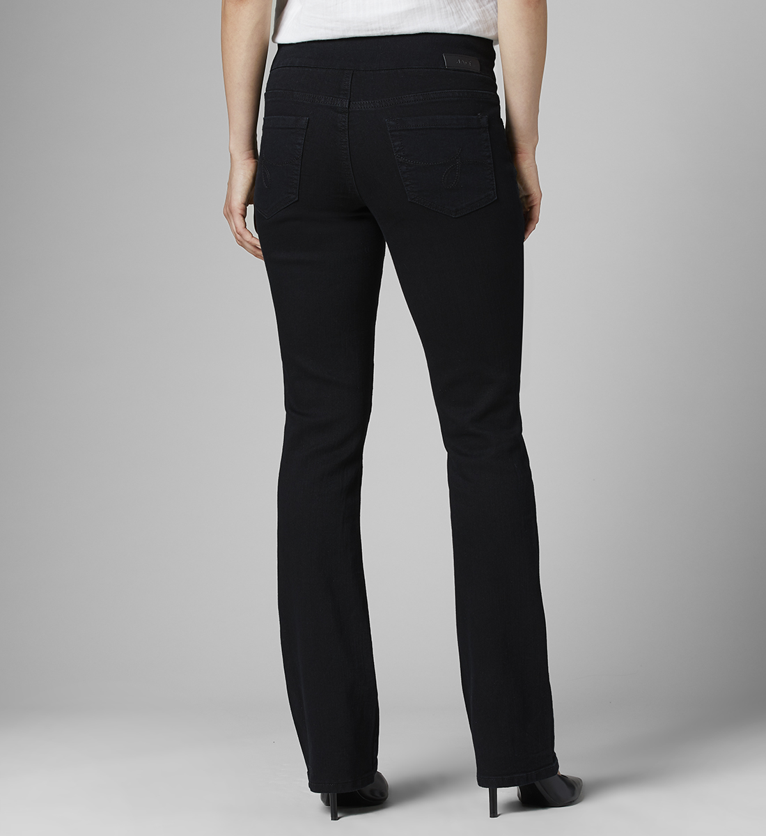 Paley Mid Rise Bootcut Jeans Petite, , hi-res