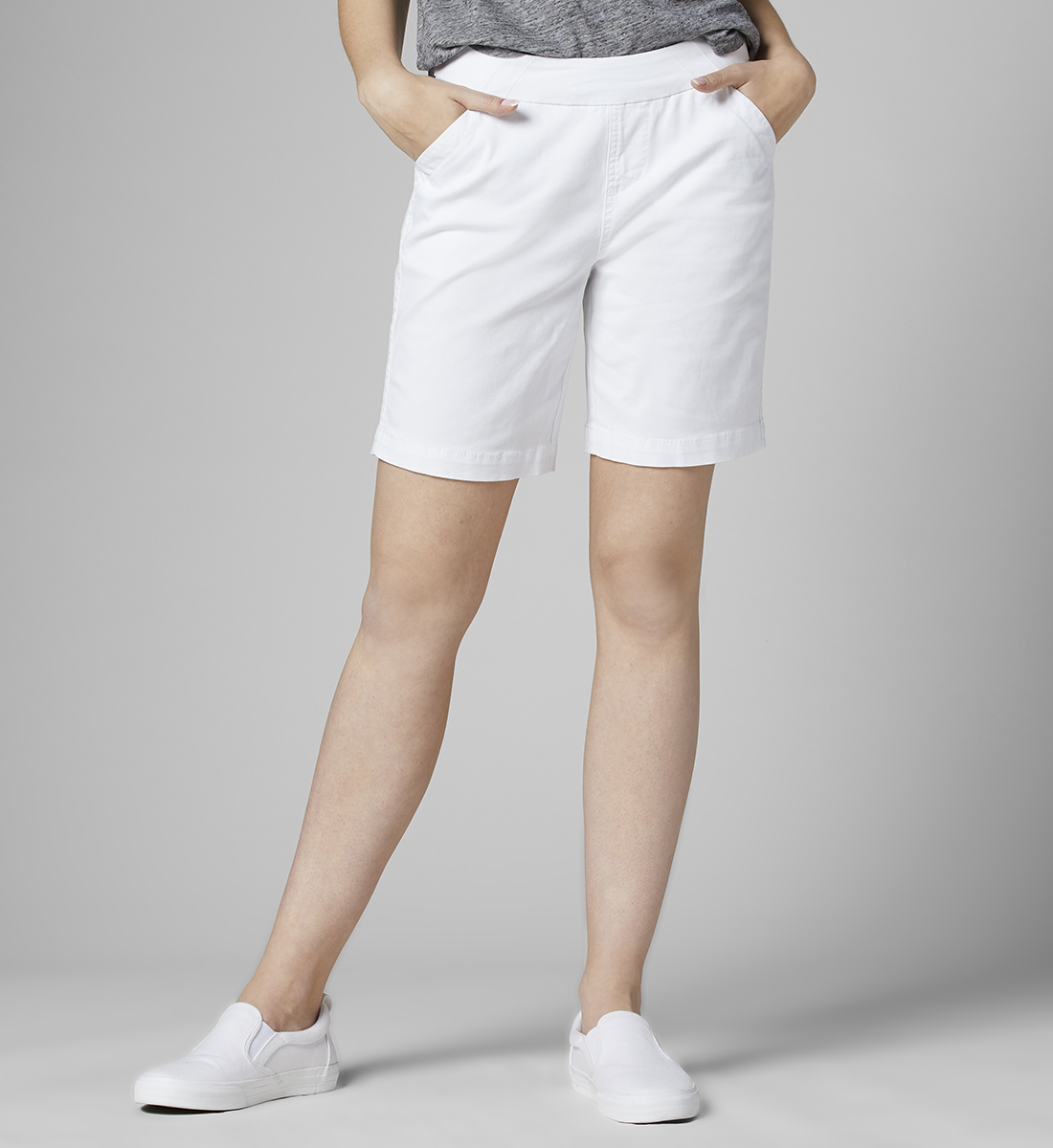 "Petite Gracie 7"" Short, White, hi-res"