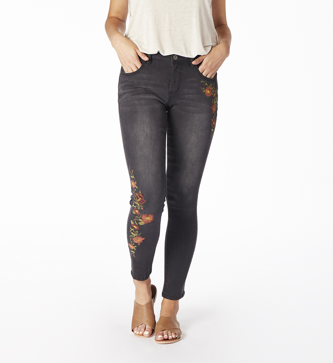 Sheridan Skinny With Embroidery, , hi-res