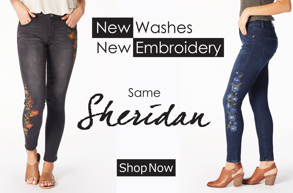 JAG Jeans | Sheridan | New Washes, New Embroidery | Shop Now