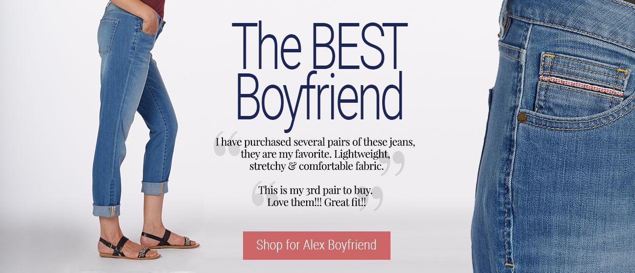 JAG Jeans | The BEST Boyfriend |  Lightweight, stretchy & comfortable… | Shop for Alex Boyfriend